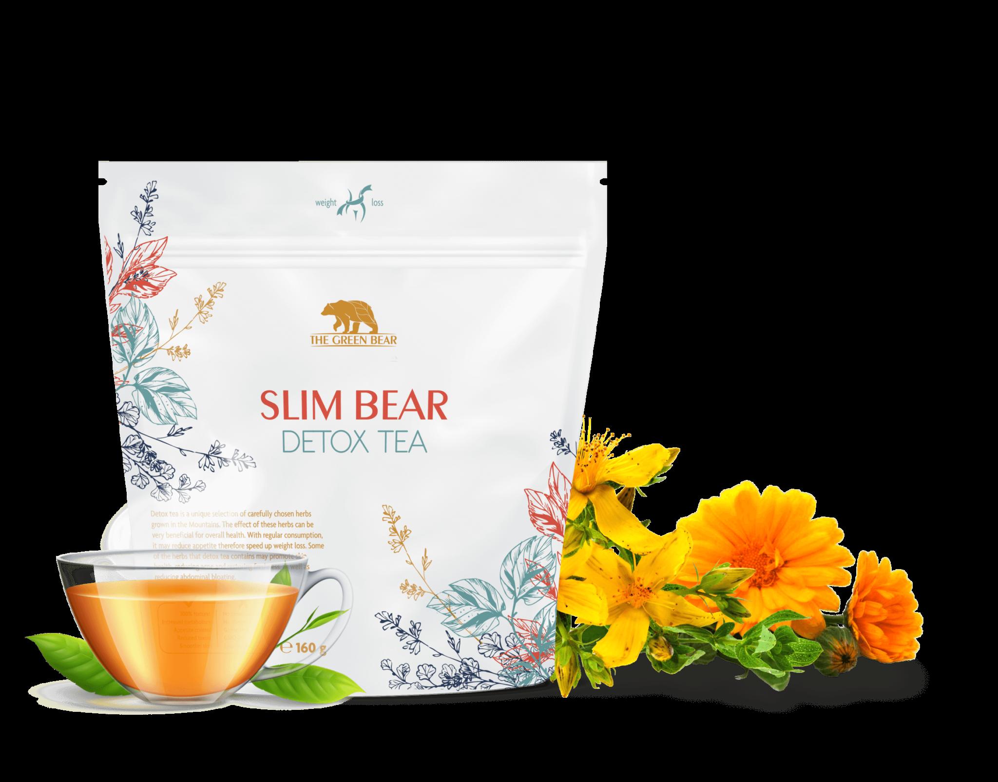 Чай за пречистване на тялото и отслабване Slim Bear - Detox tea